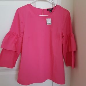 NWT J. Crew blouse with tiered bell sleves